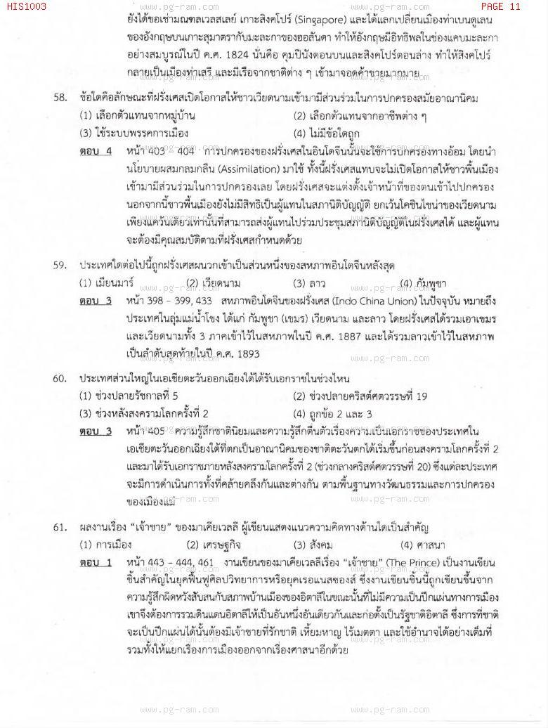 แนวข้อสอบ HIS1003 อารยธรรมโลก ม.ราม หน้าที่ 11