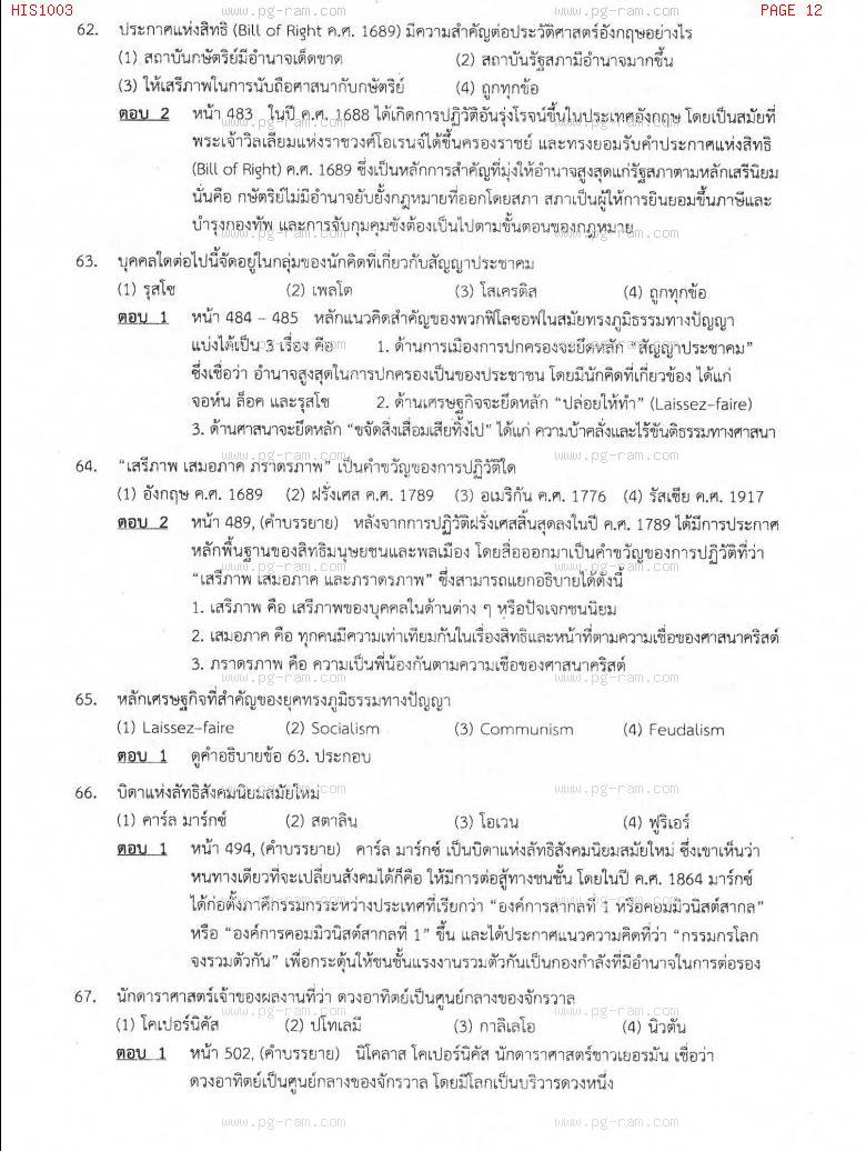 แนวข้อสอบ HIS1003 อารยธรรมโลก ม.ราม หน้าที่ 12