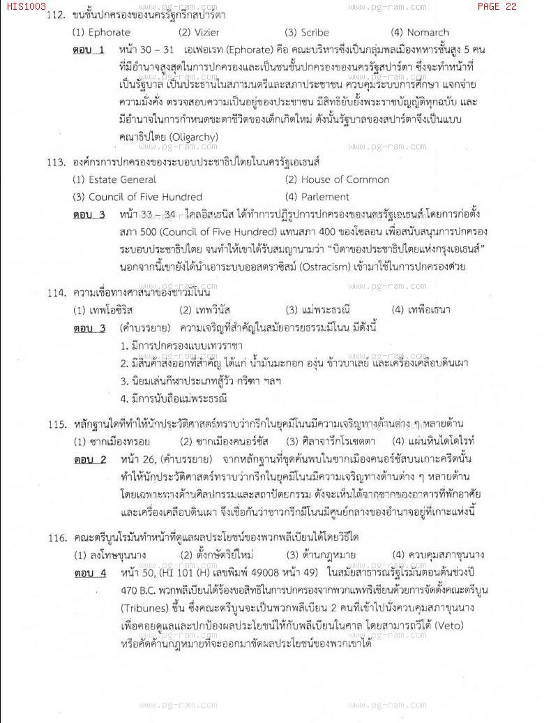 แนวข้อสอบ HIS1003 อารยธรรมโลก ม.ราม หน้าที่ 22