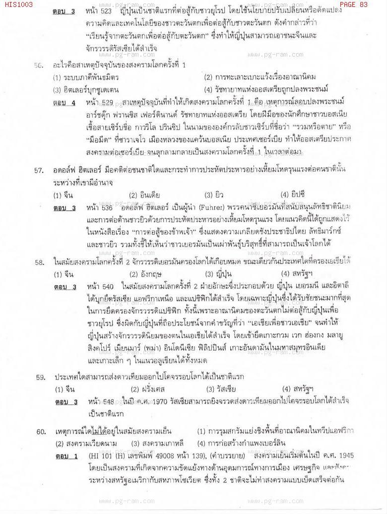 แนวข้อสอบ HIS1003 อารยธรรมโลก ม.ราม หน้าที่ 83