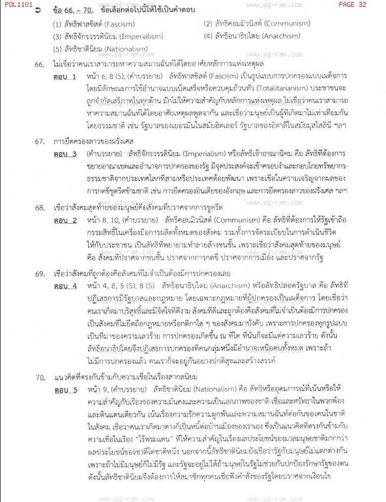 แนวข้อสอบ POL1101 การเมืองการปกครองไทย ม.ราม หน้าที่ 32