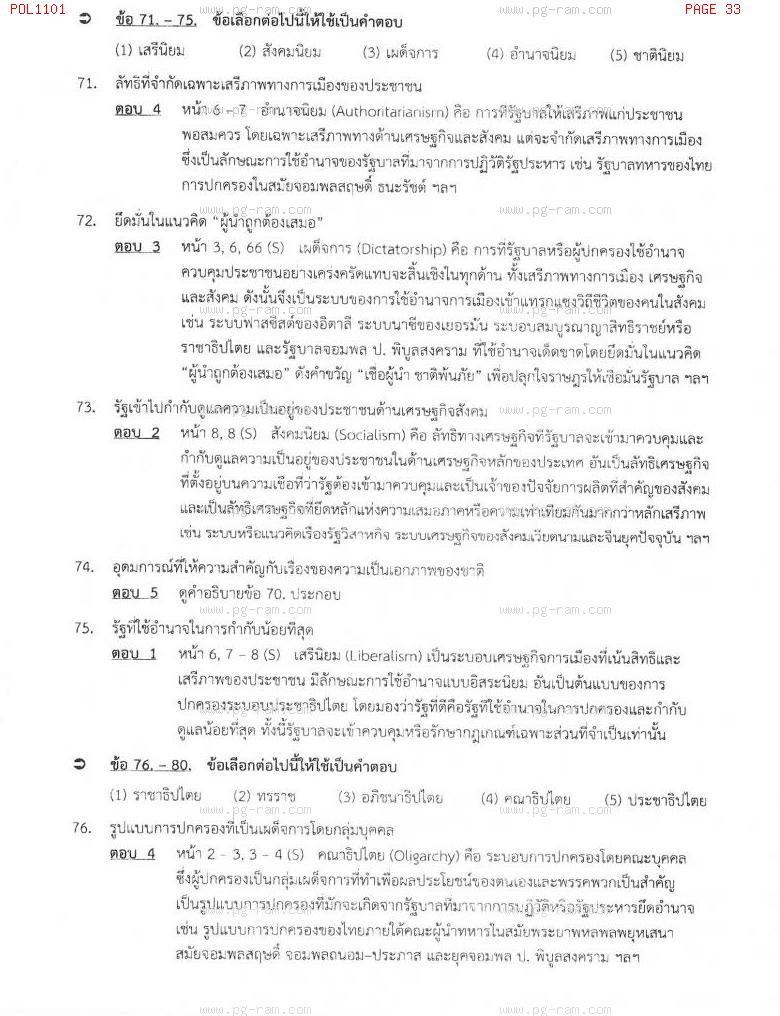 แนวข้อสอบ POL1101 การเมืองการปกครองไทย ม.ราม หน้าที่ 33