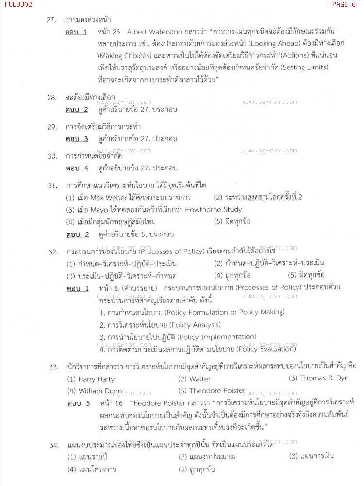 แนวข้อสอบ POL3302 การวางแผนในภาครัฐ ม.ราม หน้าที่ 6