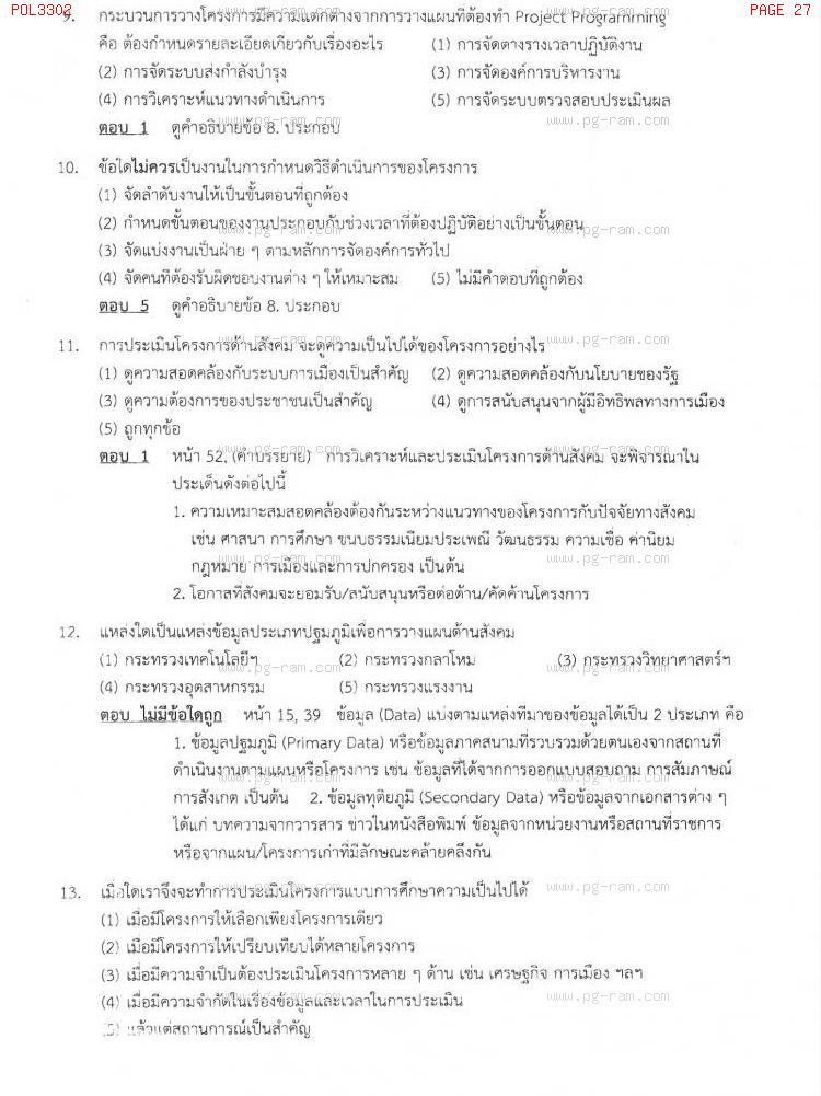 แนวข้อสอบ POL3302 การวางแผนในภาครัฐ ม.ราม หน้าที่ 27