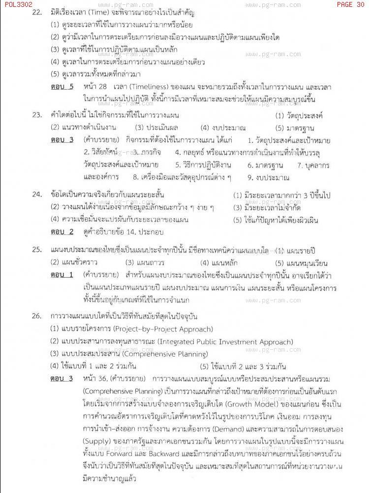 แนวข้อสอบ POL3302 การวางแผนในภาครัฐ ม.ราม หน้าที่ 30
