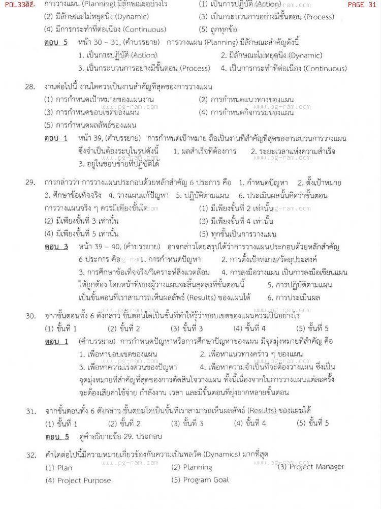 แนวข้อสอบ POL3302 การวางแผนในภาครัฐ ม.ราม หน้าที่ 31