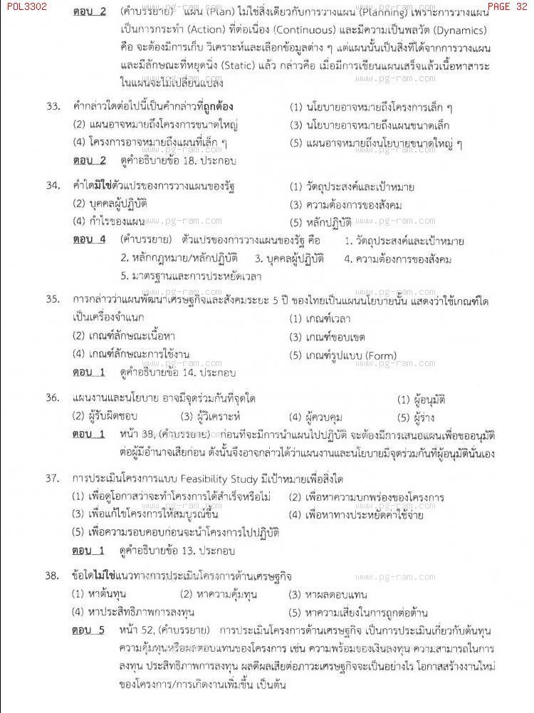 แนวข้อสอบ POL3302 การวางแผนในภาครัฐ ม.ราม หน้าที่ 32