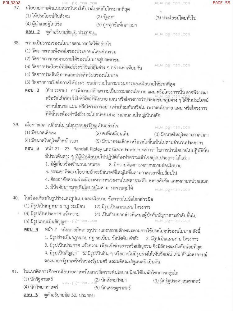แนวข้อสอบ POL3302 การวางแผนในภาครัฐ ม.ราม หน้าที่ 55