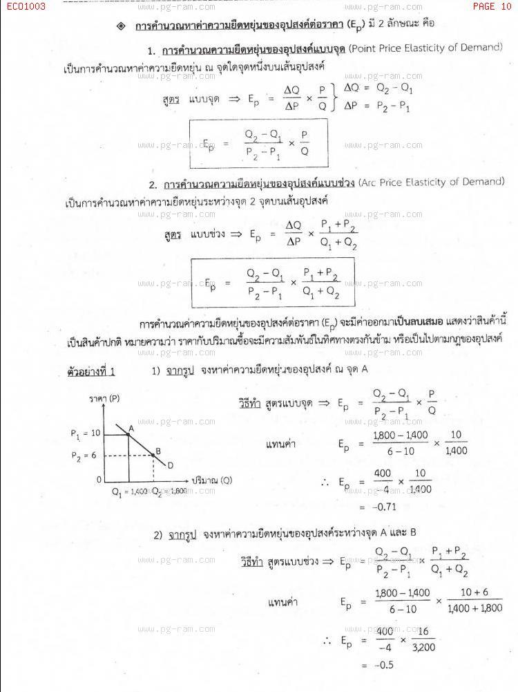 ECO1003 เศรษฐศาสตร์ทั่วไป หน้าที่ 10