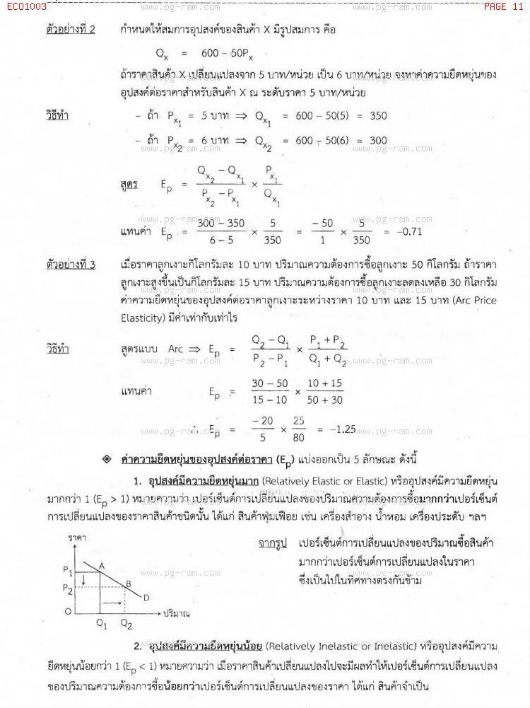 ECO1003 เศรษฐศาสตร์ทั่วไป หน้าที่ 11