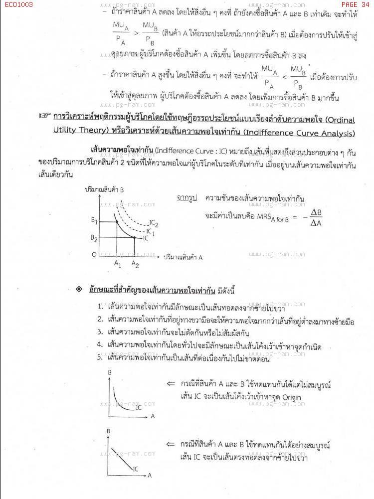 ECO1003 เศรษฐศาสตร์ทั่วไป หน้าที่ 34
