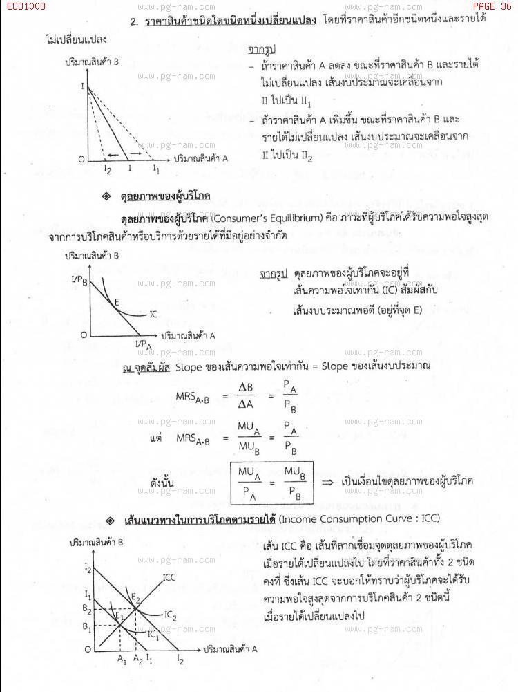 ECO1003 เศรษฐศาสตร์ทั่วไป หน้าที่ 36
