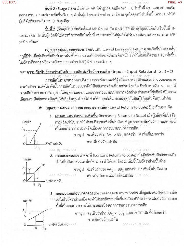 ECO1003 เศรษฐศาสตร์ทั่วไป หน้าที่ 40