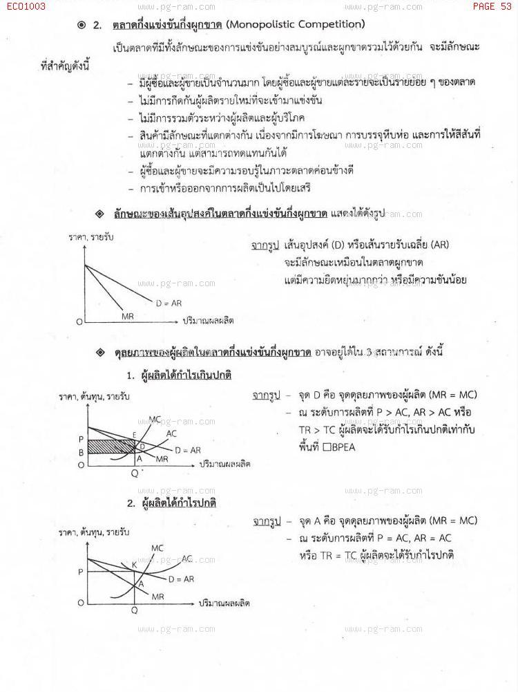 ECO1003 เศรษฐศาสตร์ทั่วไป หน้าที่ 53