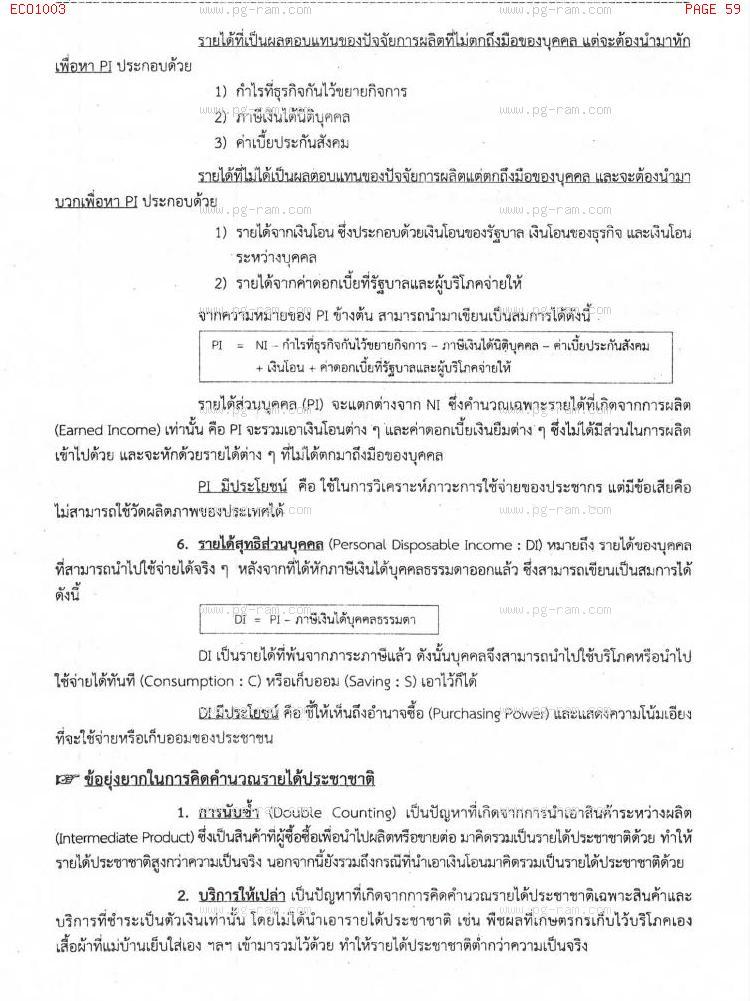 ECO1003 เศรษฐศาสตร์ทั่วไป หน้าที่ 59