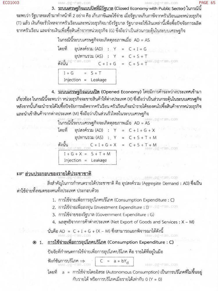 ECO1003 เศรษฐศาสตร์ทั่วไป หน้าที่ 65