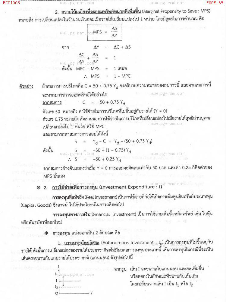 ECO1003 เศรษฐศาสตร์ทั่วไป หน้าที่ 69
