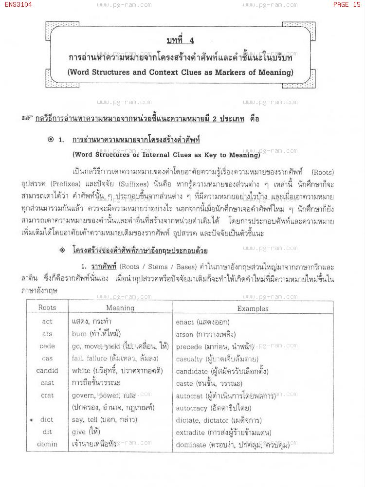 ENS3104 ภาษาอังกฤษในสาขารัฐศาสตร์ หน้าที่ 15