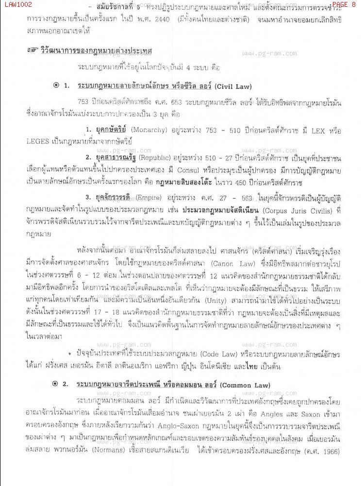 LAW1002 หลักกฏหมายเอกชน หน้าที่ 8