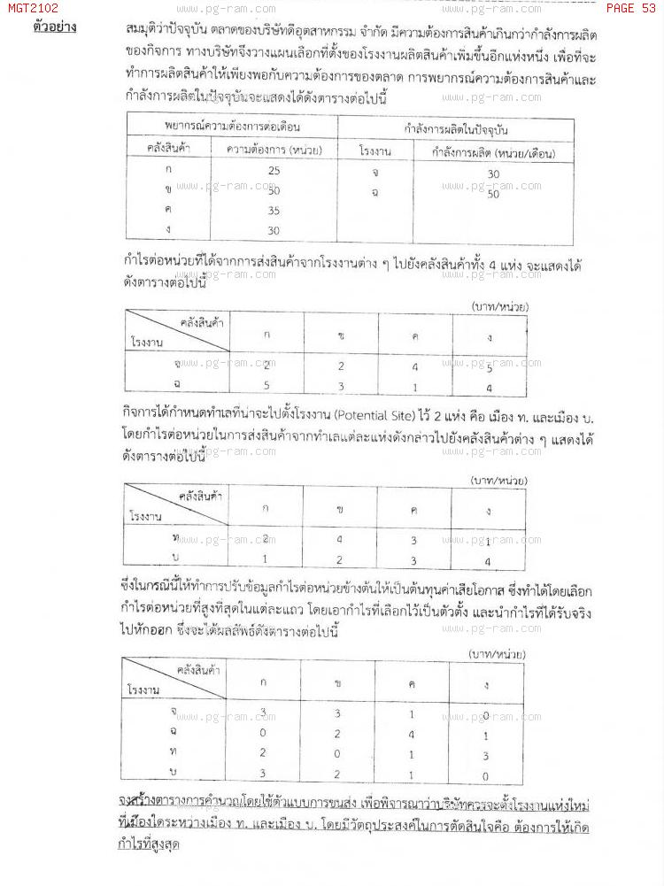 MGT2102 หลักการจัดการดำเนินงานและโซ่อุปทาน หน้าที่ 53