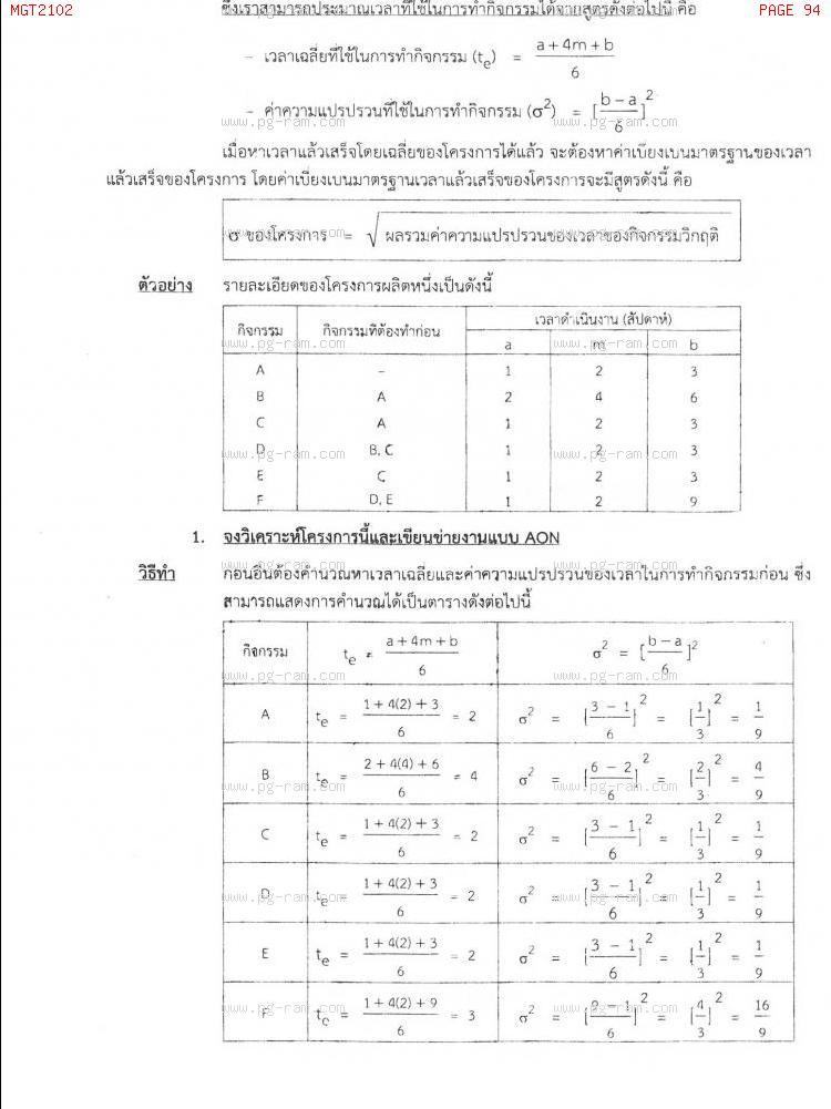 MGT2102 หลักการจัดการดำเนินงานและโซ่อุปทาน หน้าที่ 94