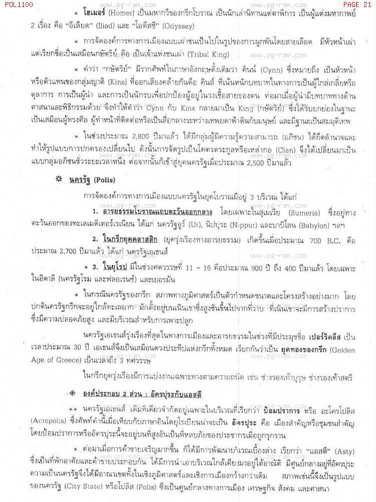 POL1100 รัฐศาสตร์ทั่วไป หน้าที่ 21