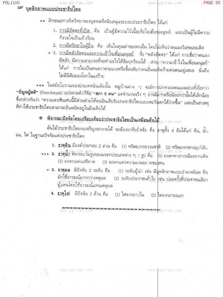 POL1100 รัฐศาสตร์ทั่วไป หน้าที่ 55