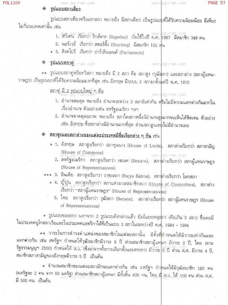 POL1100 รัฐศาสตร์ทั่วไป หน้าที่ 57