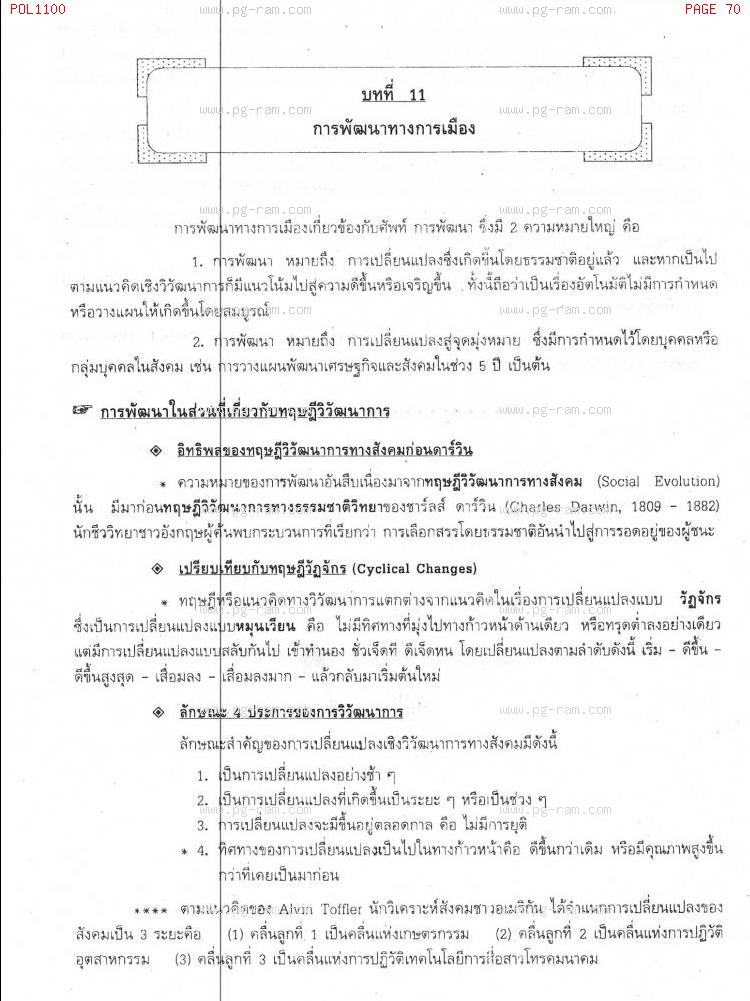 POL1100 รัฐศาสตร์ทั่วไป หน้าที่ 70