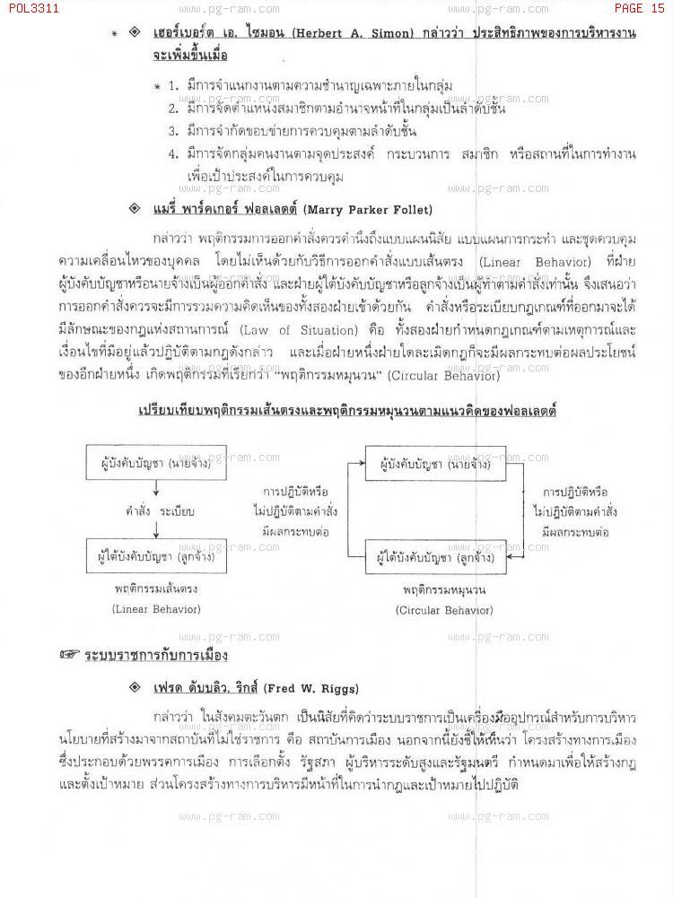 POL3311 การเมืองและระบบราชการ หน้าที่ 15